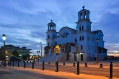 Église de Paralia Katerini dans la place principale Images stock