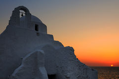 Église de paraportiani de Mykonos, Cyclades, Grèce Photo stock