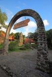 Église de pierre de Pohsarang image stock