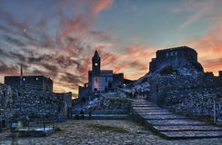 Église de Portovenere Photographie stock libre de droits