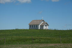 Église de prairie photo stock
