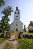 Église de Puhalepa, île de Hiiumaa, Estonie Photos stock