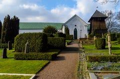 Église de Raus en dehors de Helsingborg Photo stock