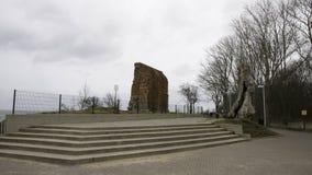 Église de Rewal avec une vue Photographie stock libre de droits