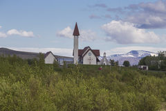 Église de Reykholt Photos libres de droits