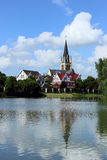 Église de rive Image libre de droits