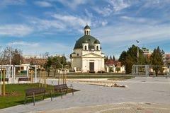 Église de Rozalia dans Komarno. Image libre de droits