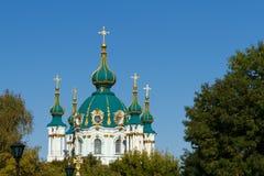 Église de rue Andrew dans Kyiv Images stock