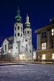 Église de rue Andrews - Cracovie - Pologne Image stock
