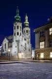 Église de rue Andrews - Cracovie - Pologne Image stock