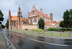 Église de rue Anne et monastère de Bernardine Photos libres de droits