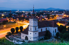 Église de rue Bartholomew, Brasov Photo stock