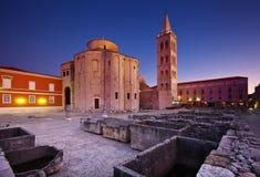 Église de rue Donat dans Zadar Photos stock