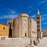 Église de rue Donat dans Zadar, Croatie Photo stock
