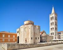 Église de rue Donatus dans Zadar Images stock