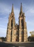Église de rue Elizabeth dans Marburg, Allemagne Photographie stock
