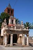 Église de rue Eulalia à Mérida Images libres de droits