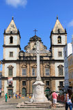Église de rue Francis d'Assisi dans Salvador, Bahia Photo libre de droits