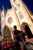 Église de rue Francis Xavier Images stock