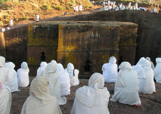 Église de rue George, Lalibela, Ethiopie photos stock