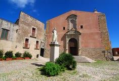 Église de rue Giuliano dans Erice (Sicile) Photos libres de droits