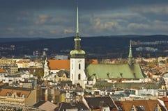 Église de rue James, Brno Images libres de droits