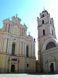 Église de rue John à l'université de Vilnius images stock