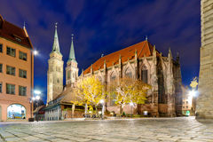 Église de rue Lorenz Images libres de droits