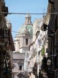 Église de rue Lorenzo à Trapani Photo stock