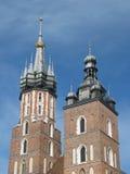 Église de rue Mary, Cracovie, Pologne image libre de droits
