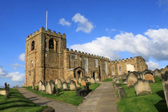 Église de rue Mary la Vierge, Whitby, N. Yorkshire Images stock