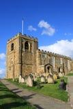 Église de rue Mary la Vierge, Whitby, N. Yorkshire Photographie stock libre de droits