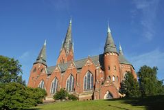 Église de rue Michael à Turku images stock
