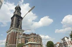 Église de rue Michael, Hambourg Images libres de droits