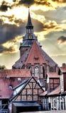 Église de rue Michael, Lueneburg, Allemagne Photos stock