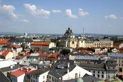 Église de rue Michal - Olomouc Photos stock
