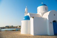Église de rue Nicolas Protaras, Chypre Images stock