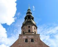 Église de rue Peter, Riga, Lettonie Photos libres de droits