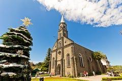 Église de rue Peter Ville de Gramado, Rio Grande do Sul - Brésil Photos stock