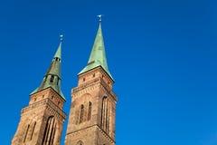 Église de rue Sebaldus, Nuremberg, Allemagne. Photographie stock