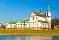 Église de rue Stanislaus sur la roche, Cracovie, Pologne Images libres de droits