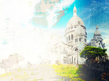 Église de Sacre Coeur, Paris Images stock