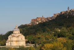 Église de saint Biagio et Montepulciano, Italie images stock