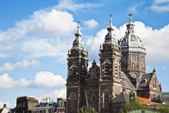 Église de Saint-Nicolas en Eu des Hollandes d'Amsterdam Photos stock
