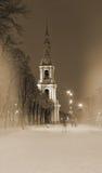 Église de Saint-Nicolas, Rue-Pétersbourg, Russie Image libre de droits