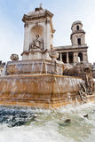 Saint-Sulpice de Fountaine, Paris Images stock