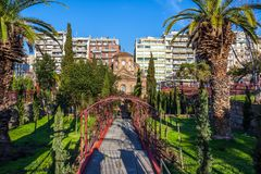 10 03 2018 église de Salonique, Grèce - d'Agios Panteleimon en Th photos stock
