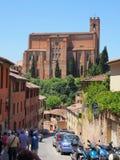 Église de San Domenico à Sienne, Italie Photos libres de droits
