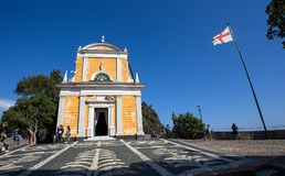 Église de San Giorgio St George, Portofino, province de Gênes, Ligurie, Italie photo libre de droits
