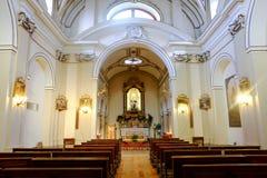 Église de San Lorenzo dans Loro Piceno, Italie Photographie stock libre de droits